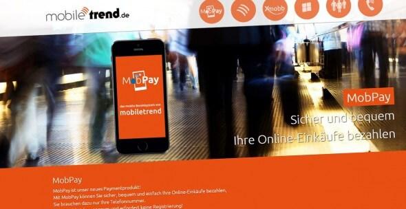 Mobpay Screenshot der Webseite von Mobile Trend