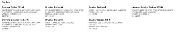 1.Schritt - Drucker Treiber runterladen (nur bei Windows notwendig)