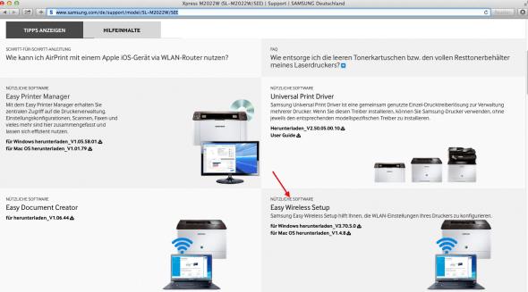 1a) Samsung.com aufrufen + Modell auswählen