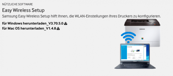 1b) Easy Wireless Setup runterladen