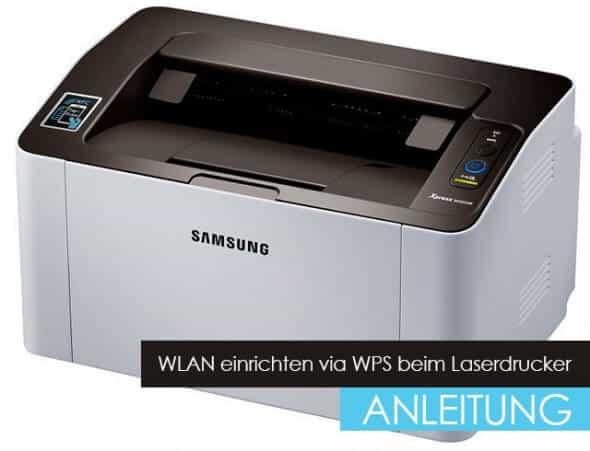 WLAN einrichten via WPS beim Laserdrucker