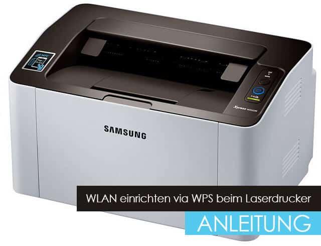 WLAN-Funktion eines Laserdruckers via WPS einrichten