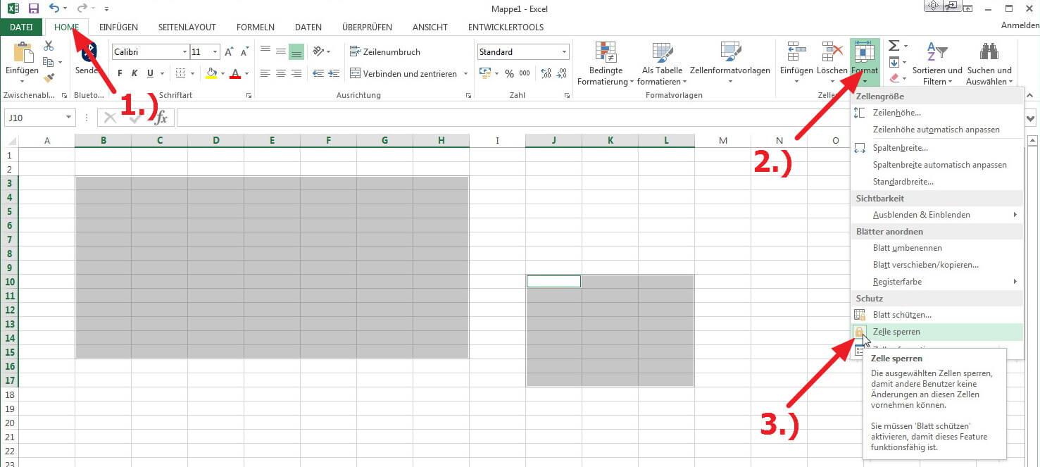 Excel Arbeitsblatt In Zelle : Excel zellen schützen blattschutz aktivieren so geht s